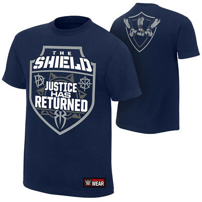 The Shield-Justice Has Returned 2018 T-SHIRT WWE XS-5XL NEU RAW WWE Wrestling