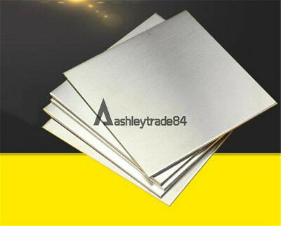 1PC 304 Stainless Steel Fine Polished Plate Sheet 0.5mm x 100mm x 100mm
