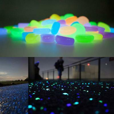 500x Glow in The Dark Stones Pebbles Rock FISH TANK AQUARIUM Garden Road Decor A