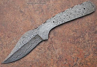 Knives Skinning 1095 Steel Blank Knife Hunting HC Blade Damascus Making Skinner