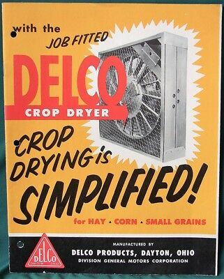 DELCO Crop Dryer orig 1955 catalog / advertisement