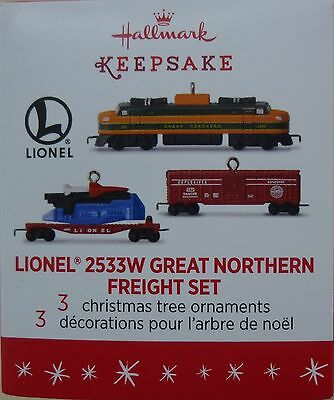 Hallmark 2016 Lionel 2533W Great Northern Freight Set ~ miniature set