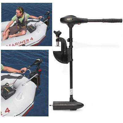 40LBS Thrust Electric Trolling Motor For Inflatable Fishing Boats 420W 12V US