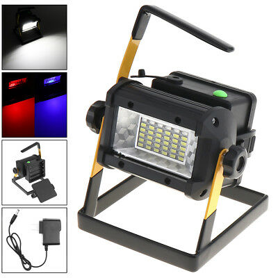 Rechargeable 50W 36XPE LED Portable FloodLight SpotLight Camping Lamp 18650 EU