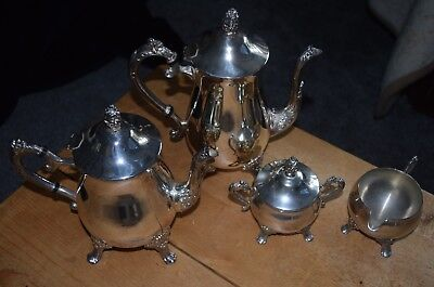 Vintage 4 piece metal ?coffee / tea set