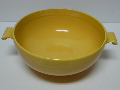 Old Vintage 1936 Old Yellow Fiesta Casserole Bowl Fiestaware Homer Laughlin Hlc