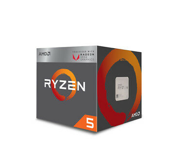 Amd Gmbh - CPU AMD AM4 Ryzen 5 4 Box 2400G 3,90GHz 4xCore 6MB 65W RX Vega G NEW