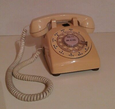 Vintage Western Electric At&t Rotary Dial Desk Phone, 500Dm, Ivory