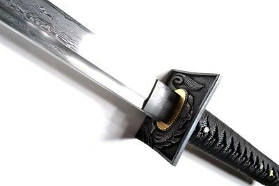 Hand Forged Folded Steel Black Assassin Ninja Sword