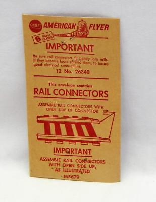 American Flyer 26340 PIKEMASTER Rail Connectors joiners UNOPENED envelope of 12