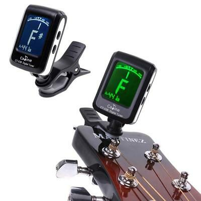LCD Clip-on Electronic Digital Tuner For Guitar Chromatic Bass Violin Ukulele MT