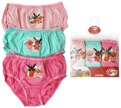 Bing Girls Pants Knickers 3 Pack 18-24 Months to 4-5 Years