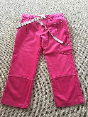Gorgeous Toff Togs Girls Pink Velvet 3/4 Length Trousers Size 128cms 8-9