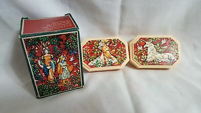 AVON Soaps in Box TAPESTRY Vintage  NEW In Box MAIDEN & UNICORN