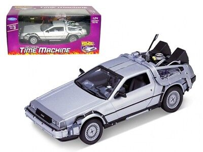 Welly 1:24 Delorean Time Machine Back To The Future Part 1 Diecast Model Silver