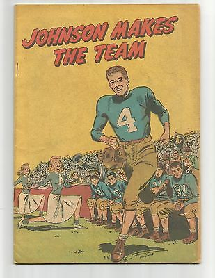 Johnson Makes the Team 1950  FN 6.0  football promotional  below guide flat ship
