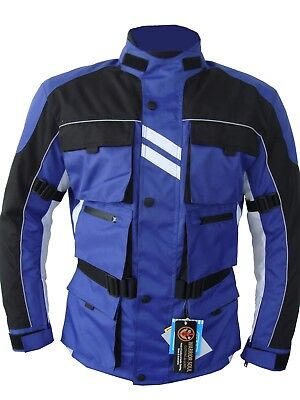 AMG Motorcycle MULTI POCKETS Waterproof CE ARMOUR Cordura Textile Bikers Jackets