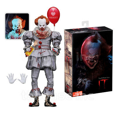 BLOODY PENNYWISE exclusive ULTIMATE IT modern remake 2017 CLOWN figure NECA 2018