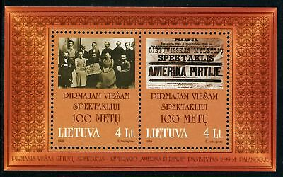 Lithuania Scott #637 MNH S/S Play American in the Baths Centenary CV$5+