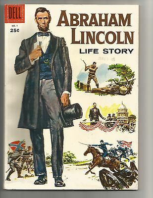 Abraham Lincoln Life Story #1 Mar.1958 FN 6.0 Dell Giant  below guide