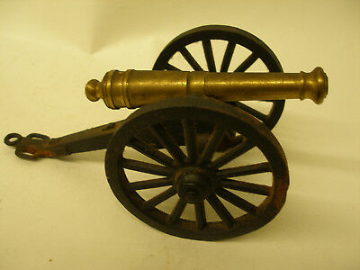 VINTAGE BRASS & CAST IRON SCALE MODEL CIVIL WAR CANNON by MF Co. C- 1/3 DISPLAY