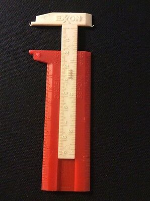 Vintage Exxon Gas Adjustable Ruler Measure Stick Inches Metric Measurements