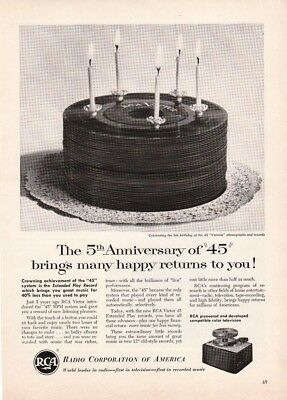 Vintage RCA Ad 1954 - Extended Play 45 Records