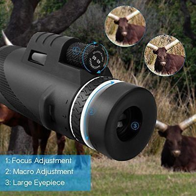 US Zoomable 40x60 Monocular HD Optic Telescopes W/Clip Tripod Bird Watching