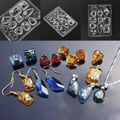 DIY Craft Tool Silicone Mold Mould Resin Pendant Earring Necklace Jewelry Making