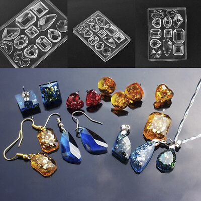 Silicone Mold DIY Mould Resin Craft Tool for Earrings Pendant Necklace Making JP