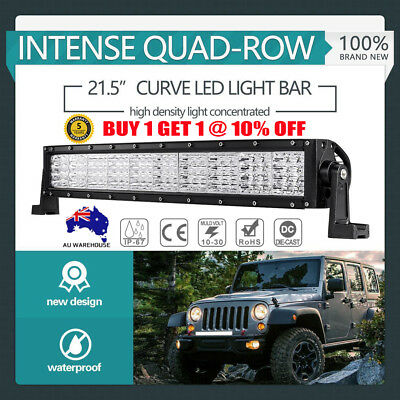 """22inch Curved Quad Row LED Driving Light Bar Offroad Combo Truck 4WD 20/22/23"""""""