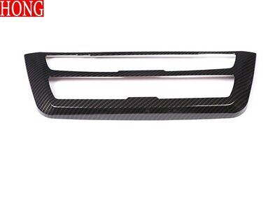 Carbon Fiber ABS AC Console Stereo Trim For BMW 3 4Series GT F30 F32 F34 2013-18