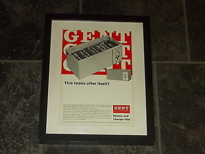 Gent of Leicester battery & charger unit-1967 Original advert framed