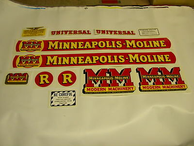 Minneapolis Moline Model R Tractor Decal Set  - NEW FREE SHIPPING