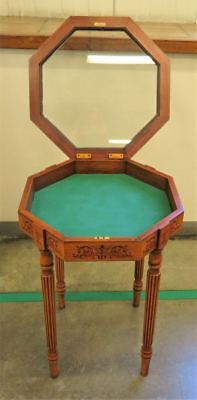 Antique Hexagon Bijouterie Display Cabinet Table Jewellery Glass Vintage Collect