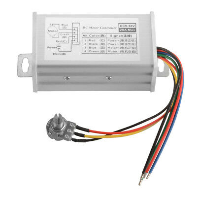 PWM DC Motor Stepless Variable Speed Controller Switch with Metal Shell TE987
