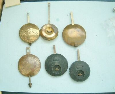 Clock makers 6 Westminster Chime clock pendulum with adjuster rods repairer spar