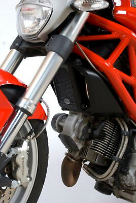 R&G RACING RED OIL COOLER GUARD FOR Ducati Monster 1100 Evo (All Years)