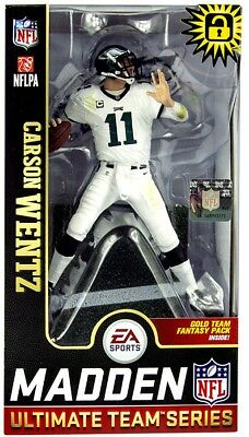 7a28a49a7 NFL EA Sports Madden 19 Ultimate Team Series 1 Carson Wentz Action Figure
