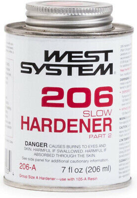 West System 206 Slow Epoxy Hardener (.43 pt)