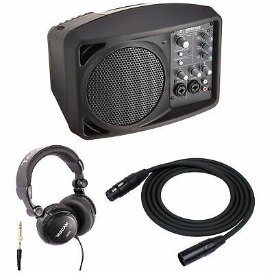 Mackie SRM150 Active PA System with Microphone Cables and Headphones