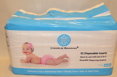 Charlie Banana  Disposable Inserts  Reusable Diapering System  32 Inserts