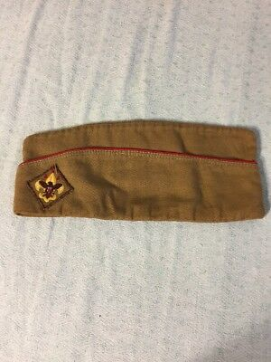 Vintage Official Boy Scouts Of America Garrison Style Cap/hat Medium