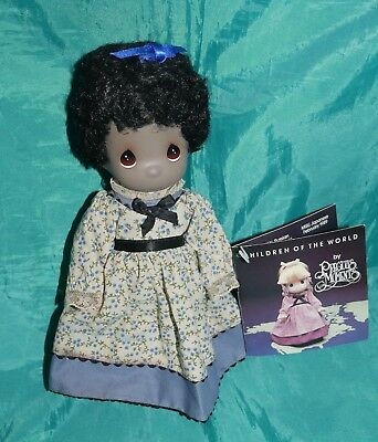 Precious Moments Children of the World Mazie, AA Black Doll 1989 Book Featured