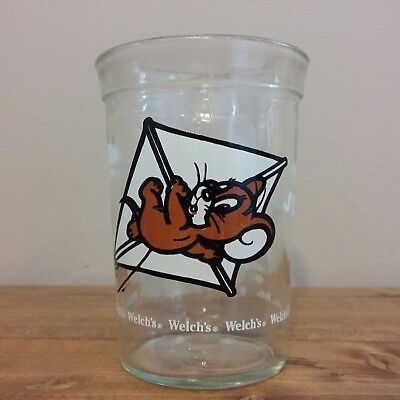 Welchs Jelly Jar Glass Cup Tom & Jerry Jerry Kite Flying 1990 Turner Welch's