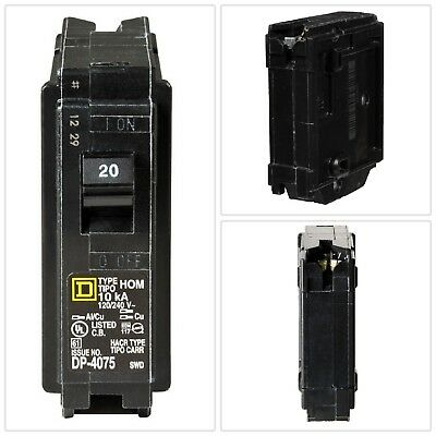 CIRCUIT BREAKER Homeline 20 Amp Single-Pole Home Electrical Power Distribution