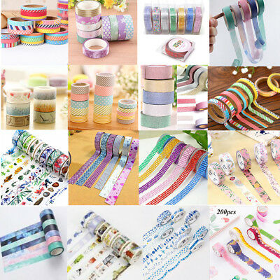 Washi Tape Paper Masking Tape Scrapbook Decorative DIY Adhesive Sticker Decor