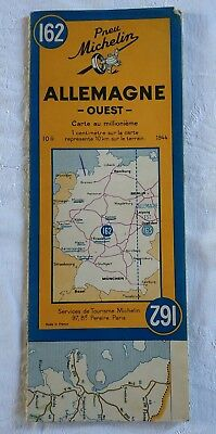 Ancienne Carte MICHELIN N°162 - ALLEMAGNE OUEST 1944