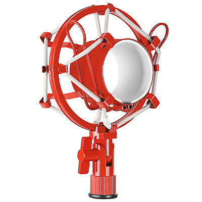 Neewer Pro Red Metal Microphone Shock Mount Mic Anti-vibration Holder Clip