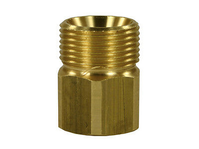"Adapter Threaded Nipple M22 Ag - 3/8 "" IG Female Thread Clutch Brass Gegennippel"
